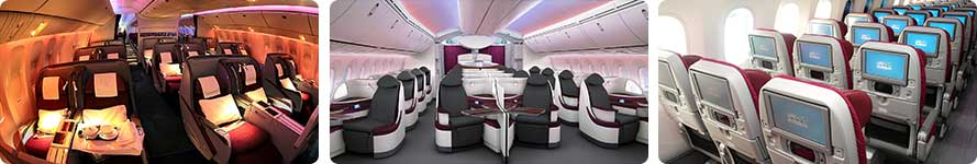 interior & services Qatar Airways