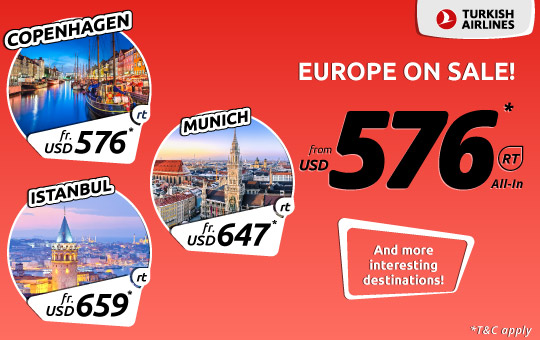 Turkish Airlines Europe on Sale!