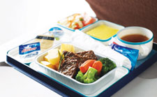 garuda indonesia on board food economy