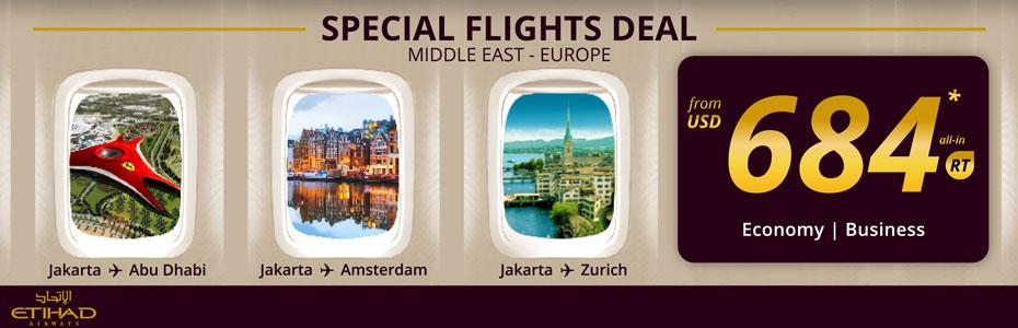 ETIHAD AIRWAYS SPECIAL DEALS