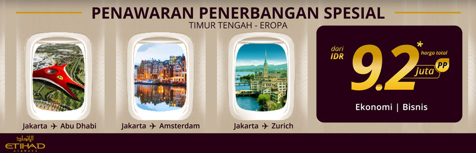 PENAWARAN SPESIAL ETIHAD AIRWAYS