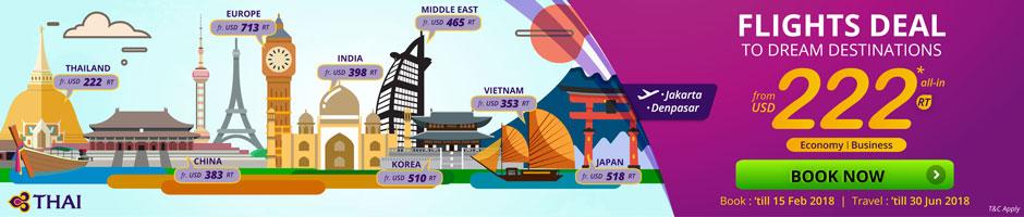FLIGHTS DEAL TO DREAM DESTINATIONS start from USD 222 Return