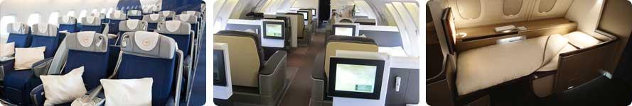 Interior & Stewardess Lufthansa
