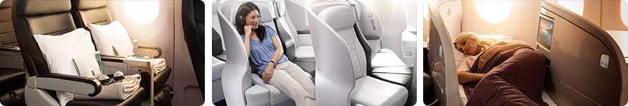 interior Air New Zealand Flight