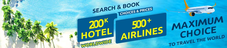 book 500 airlines promo fares & maximum choices