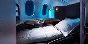 air canada 787 business seat night