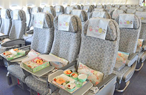 eva air hello kitty meal