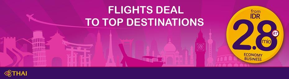Flights Deal to Top Destinations
