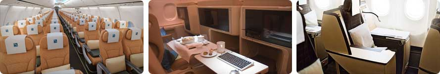 interior and steward SilkAir