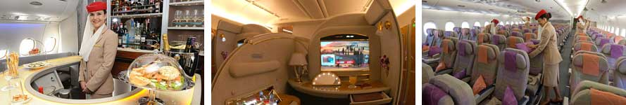 Pramugari dan service Emirates flights