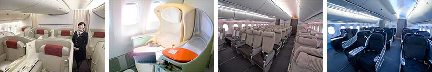 interior & stewardess Japan Airlines