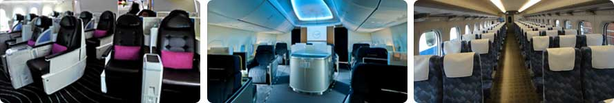 interior and service Saudi Arabian Airlines