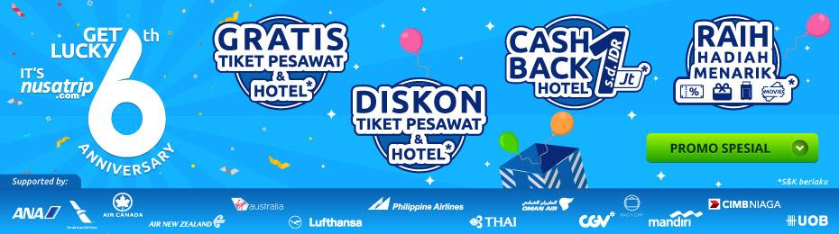 Anniversary Nusatrip Ke 6 Promo Travel April 2019