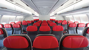 Thai lion air plane cabine
